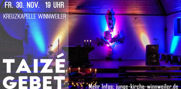 Taizé Abendgebet in der Kreuzkapelle Winnweiler